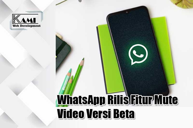 whatsapp rilis fitur mute video versi beta