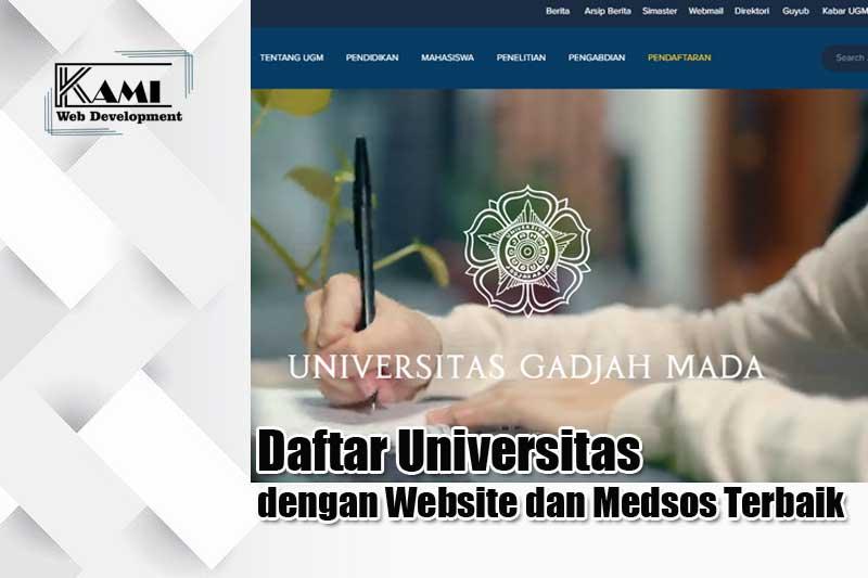 daftar universitas dengan website dan medsos terbaik