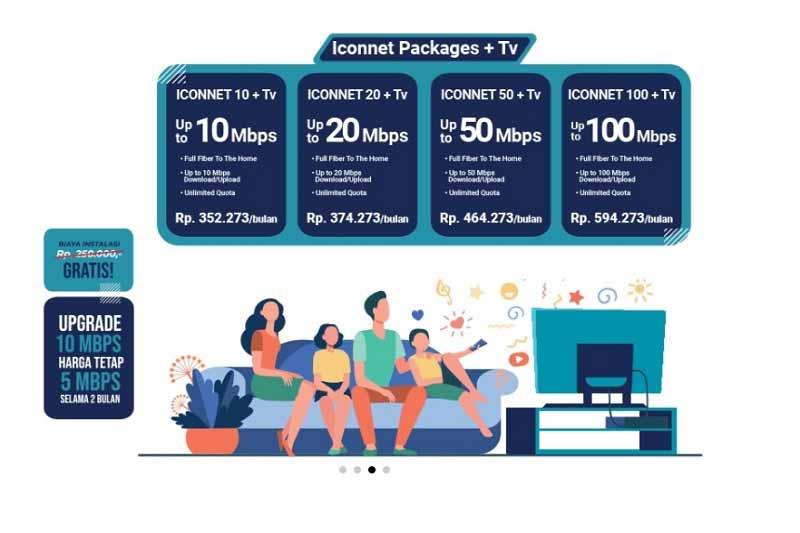 Cara Daftar Langganan Iconnet dari PLN, Paket mulai Rp. 185.000 per Bulan